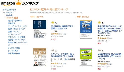 Amazonランキング例